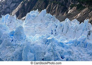ghiacciaio, alaska, baia, stati uniti