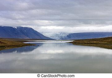 ghiacciaio, lago