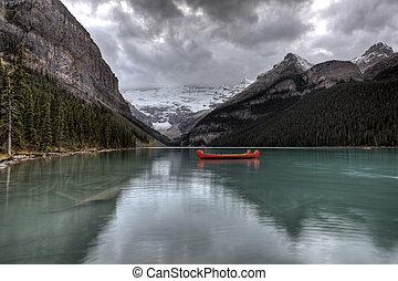 ghiacciaio, lago louise