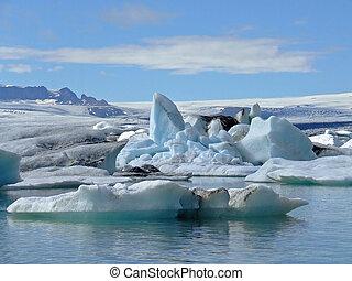 ghiacciaio, laguna