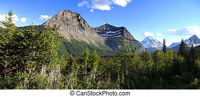 ghiacciaio, montagne, nazionale, parco