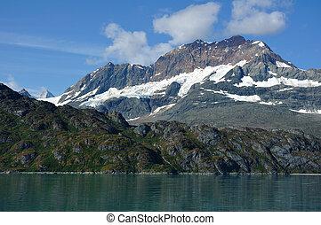 ghiacciaio, monte, alaska, baia, parco, nazionale, rame