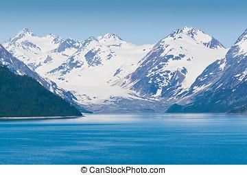 ghiacciaio, nazionale, parco,  Alaska, baia