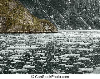 ghiacciaio, parco, nazionale,  Alaska, baia