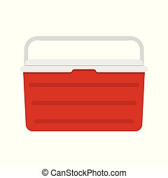ghiaccio, contenitore, refrigeratore, cibo