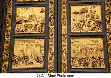 Ghiberti Bapistery Bronze Door Duomo Florenc & Picture of Ghiberti Paradise Baptistery Bronze Door Duomo ... Pezcame.Com