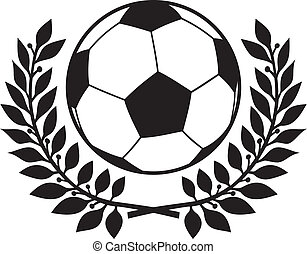 ghirlanda, alloro, palla football