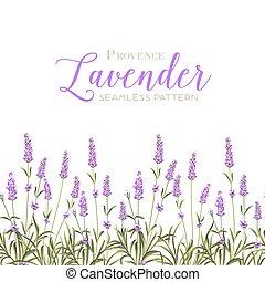 ghirlanda, di, lavanda, flowers.