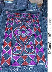 Ghongadi, desi blanket made from sheep wool, Hand-made Multicolor Woolen Blanket, India