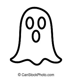 ghost character funny line style icon vector illustration ...