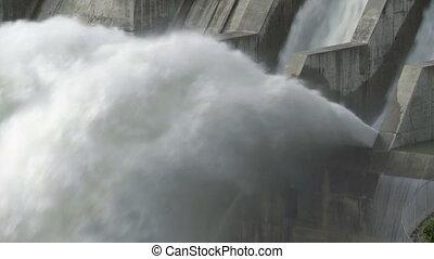 Ghost Dam cu 06 - Hydroelectric Dam and spillway