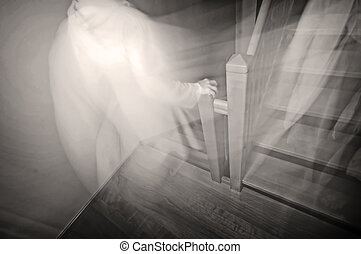 Ghost going downstairs