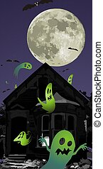 Old house with ghosts