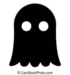 Ghost icon black color illustration flat style simple image