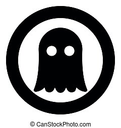 Ghost icon black color vector illustration simple image