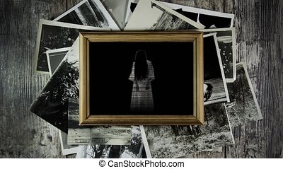 Ghost in old photos. Ghosts of the past