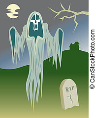 Ghost In the Graveyard - Ghost out haunting in the graveyard...