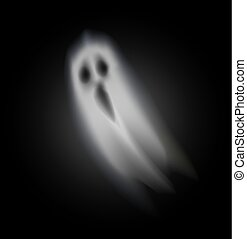 Ghost of Halloween Opened Mouth Isolated Vector - Ghost of ...