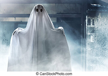 Ghost on haunted house