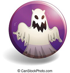 Ghost on round badge