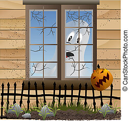 ghost on the window vector