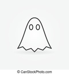 Ghost outline vector minimal icon