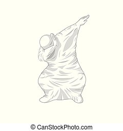 ghost specter character dancing dab step - Stock vector ...