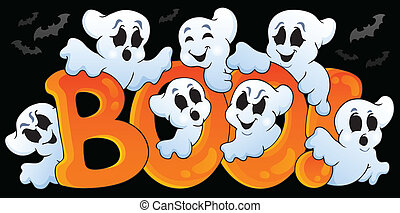 Ghost theme image 5 - eps10 vector illustration.