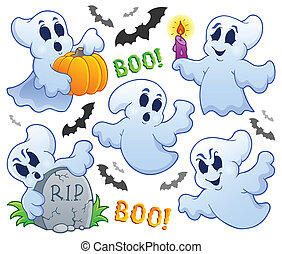 Ghost theme image 9 - eps10 vector illustration.