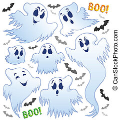 Ghost topic image 2 - eps10 vector illustration.