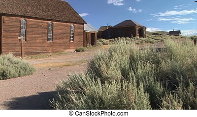 Ghost Town Church - Abandoned church in the ghost town of...