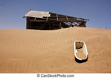 Ghost town in the desert