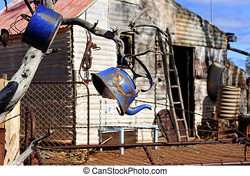 Ghost town outback Australia - Ruined house in abandoned...