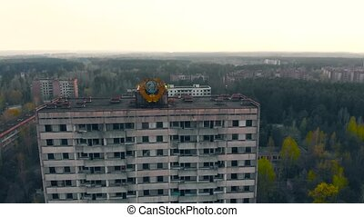 Ghost town Pripyat near Chernobyl NPP, Ukraine - Pripyat...