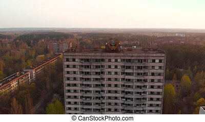 Ghost town Pripyat near Chernobyl NPP, Ukraine - Views of...