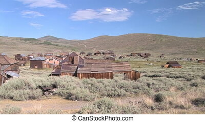 The abandoned ghost town of Bodie