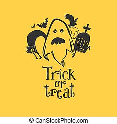 Ghost with friends and Trick or Treat