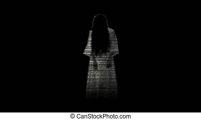 Ghost woman. Scary ghost in the dark room 23. - Ghost woman....
