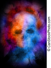 Ghostly skull abstract