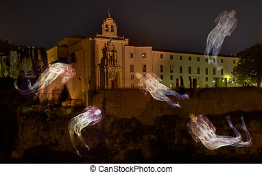 Ghosts around the castle