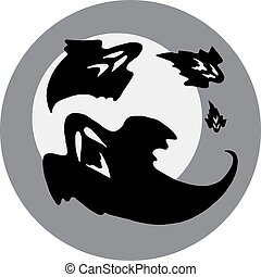 Ghosts circle icon