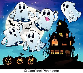Ghosts near haunted house