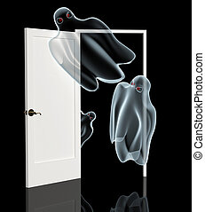 Ghosts, opening a door