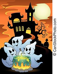 Ghosts stirring potion theme image 5