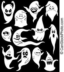 Ghosts - Set of 12 spooky ghosts.