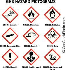 ghs hazard pictograms - set of globally harmonized system ...
