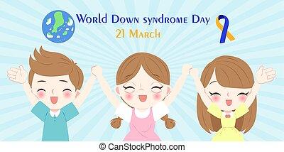 giù, mondo, concetto, sindrome, giorno
