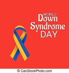 giù, mondo, day., sindrome