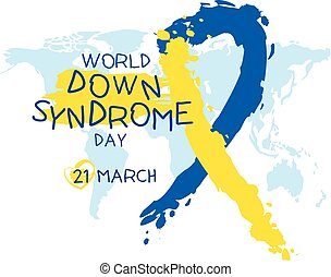giù, mondo, sindrome, giorno