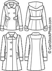 giacca, lana, signora